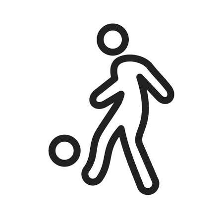 サッカー プレーヤー アイコン  イラスト・ベクター素材
