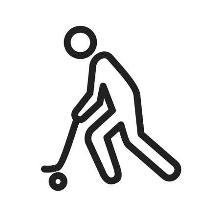 ice hockey player: Hockey player icon