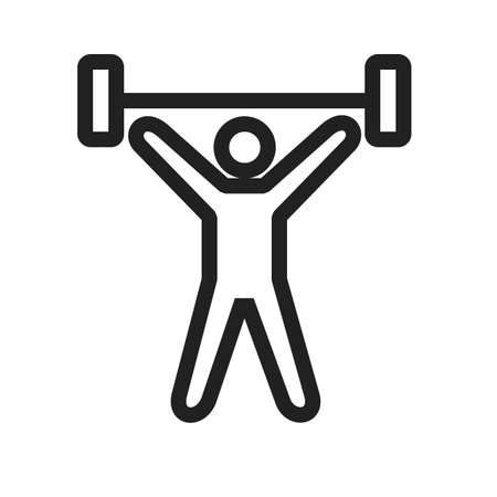 weightlifter: weightlifter icon Illustration