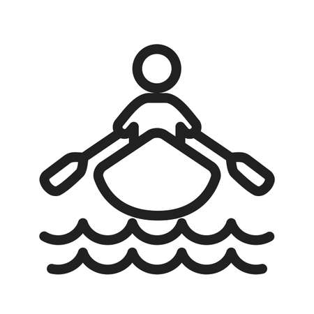 rowing boat icon Stock Vector - 39252791
