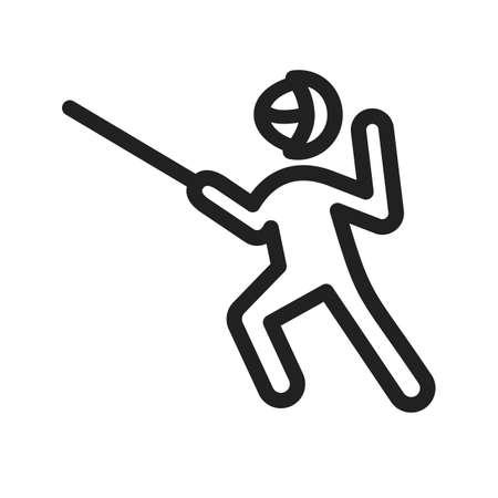fencing sword: Sword fighter icon