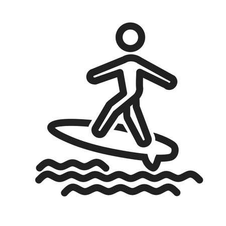 Surfer icono Foto de archivo - 39252802