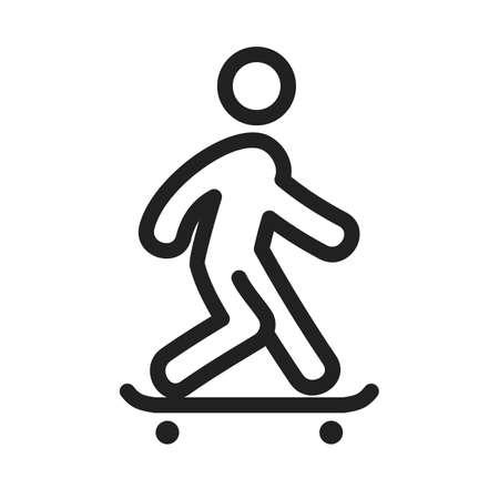 skateboarder skating icon