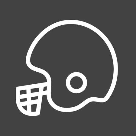 Cricket keeper helmet icon