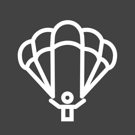 glider: Paragliding, glider, parachute, jumping icon vector image. Can also be used for sports, fitness, recreation. Suitable for web apps, mobile apps and print media. Illustration