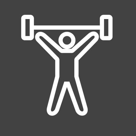 weightlifter icon Çizim