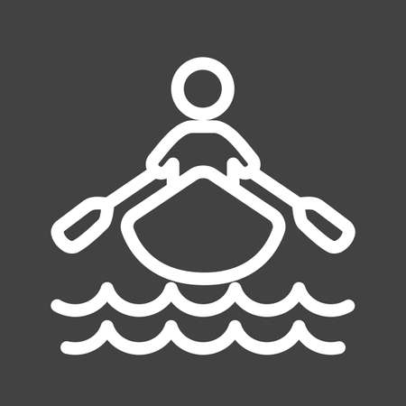 Boat rowing icon Stock Vector - 39349814