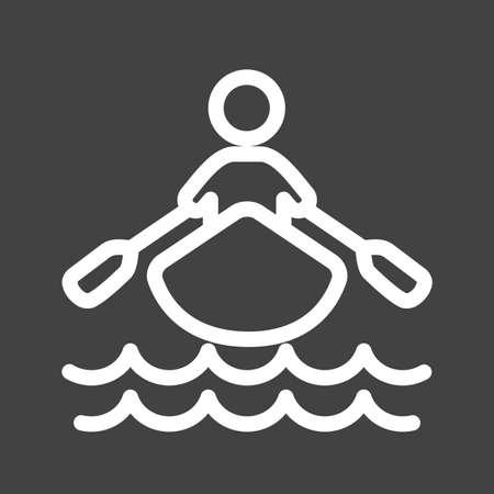 Boat rowing icon Illustration