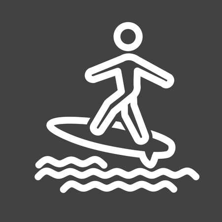 Agua Surfer icono Foto de archivo - 39349855