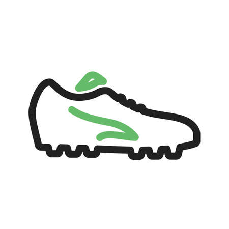 foot wear: Football, shoes, soccer, player, foot wear icon vector image. Can also be used for sports, fitness, recreation. Suitable for web apps, mobile apps and print media.