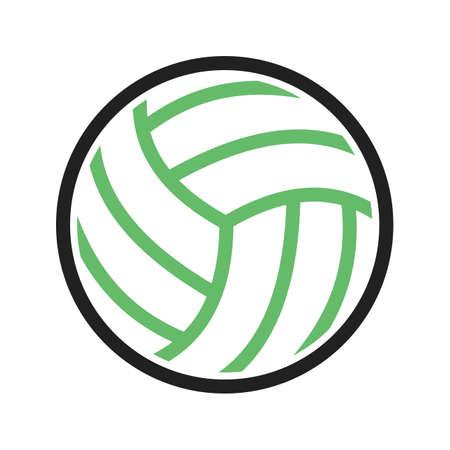 pelota de voley: Voleibol, bola, juego, imagen del icono del vector partido. Tambi�n se puede utilizar para los deportes, fitness, recreaci�n. Adecuado para aplicaciones web, aplicaciones m�viles y los medios impresos.