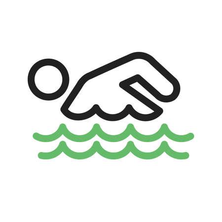 swim race: Nataci�n, agua, piscina, imagen Nadador del icono del vector. Tambi�n se puede utilizar para los deportes, fitness, recreaci�n. Adecuado para aplicaciones web, aplicaciones m�viles y los medios impresos. Vectores