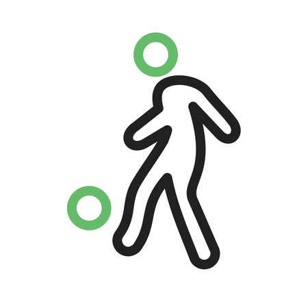 foot ball: Ball, foot ball, soccer, player icon vector image. Can also be used for sports, fitness, recreation. Suitable for web apps, mobile apps and print media.