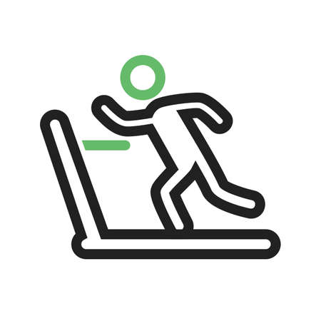 Running, treadmill, exercise, gym icon vector image. Can also be used for sports, fitness, recreation. Suitable for web apps, mobile apps and print media. Vector