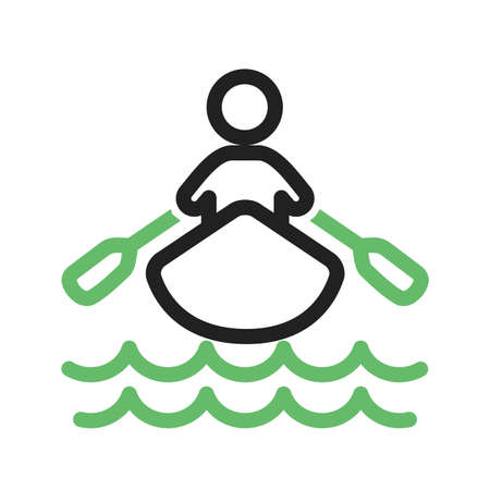 rowboat: Boat, water, rowing, row icon vector image. Can also be used for sports, fitness, recreation. Suitable for web apps, mobile apps and print media.
