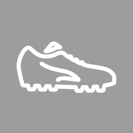 cleats: Football, shoes, soccer, player, foot wear icon vector image. Can also be used for sports, fitness, recreation. Suitable for web apps, mobile apps and print media.