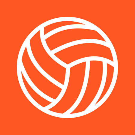 volley ball: Volley ball, ball, game, match icon vector image. Can also be used for sports, fitness, recreation. Suitable for web apps, mobile apps and print media.