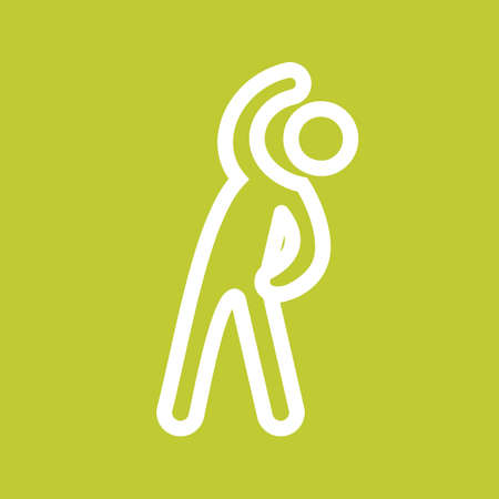 stretch: Stretch, athlete, exercise, standing icon vector image. Can also be used for sports, fitness, recreation. Suitable for web apps, mobile apps and print media. Illustration