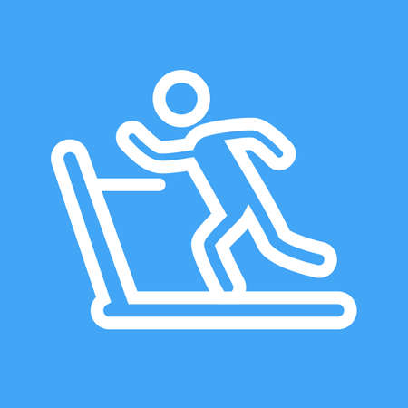 endurance: Running, treadmill, exercise, gym icon vector image. Can also be used for sports, fitness, recreation. Suitable for web apps, mobile apps and print media. Illustration