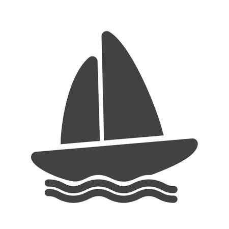 canotaje: Barco, agua, yate, canotaje icono de imagen vectorial. Tambi�n se puede utilizar para los deportes, fitness, recreaci�n. Adecuado para aplicaciones web, aplicaciones m�viles y los medios impresos. Vectores