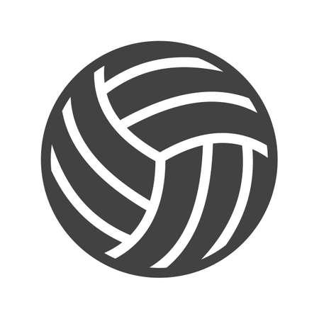 ballon volley: Volley-ball, boule, jeu, match de l'image ic�ne vecteur. Peut aussi �tre utilis� pour les sports, fitness, loisirs. Convient pour les applications Web, des applications mobiles et les m�dias d'impression.