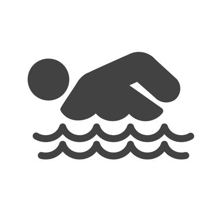 pool player: Swimming, water, pool, swimmer icon vector image. Can also be used for sports, fitness, recreation. Suitable for web apps, mobile apps and print media.