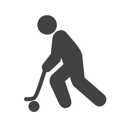 racing skates: Hockey, puck, stick, ball icon vector image. Can also be used for sports, fitness, recreation. Suitable for web apps, mobile apps and print media. Illustration