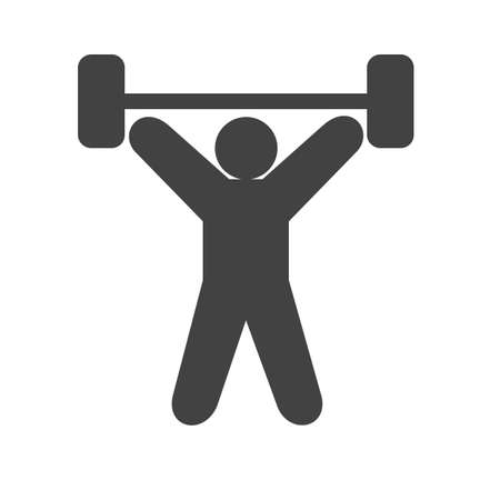 longbow: Exercise, dumbbells, heavy, weightlifter icon vector image. Can also be used for sports, fitness, recreation. Suitable for web apps, mobile apps and print media. Illustration