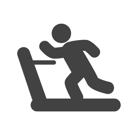 rowboat: Running, treadmill, exercise, gym icon vector image. Can also be used for sports, fitness, recreation. Suitable for web apps, mobile apps and print media. Illustration