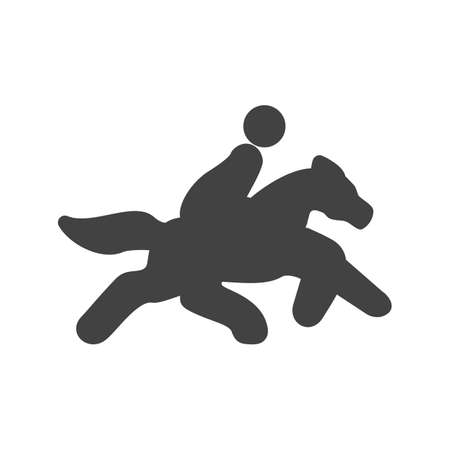 deceleration: Horse rider, pony, riding, race icon vector image. Can also be used for sports, fitness, recreation. Suitable for web apps, mobile apps and print media.