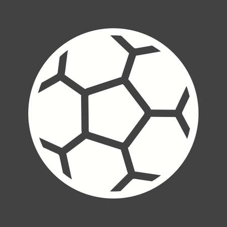 Football, ball, soccer, sports icon vector image. Can also be used for fitness, recreation. Suitable for web apps, mobile apps and print media.  イラスト・ベクター素材