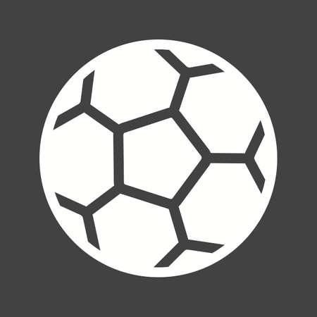 Voetbal, bal, voetbal, sport icoon vector afbeelding. Kan ook worden gebruikt voor fitness, recreatie. Geschikt voor web apps, mobiele apps en gedrukte media. Stock Illustratie