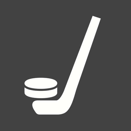 Hockey, puck, ball, stick, sports icon vector image. Can also be used for fitness, recreation. Suitable for web apps, mobile apps and print media.