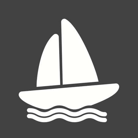 canotaje: Barco, agua, yate, canotaje, �cono del deporte vector de imagen. Tambi�n se puede utilizar para la aptitud, la recreaci�n. Adecuado para aplicaciones web, aplicaciones m�viles y los medios impresos. Vectores