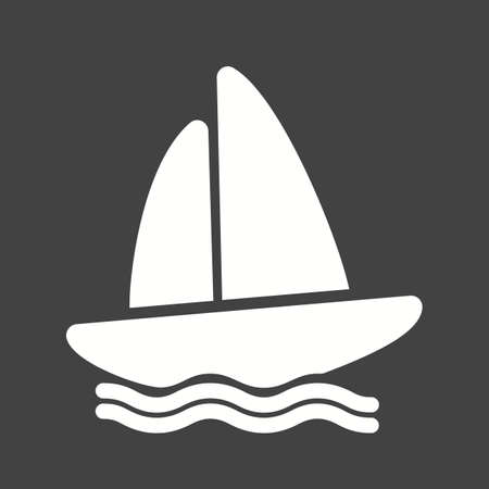 Boat, water, yacht, boating, sports icon vector image. Can also be used for fitness, recreation. Suitable for web apps, mobile apps and print media.