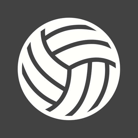 Volley ball, ball, game, match, sports icon vector image. Can also be used for fitness, recreation. Suitable for web apps, mobile apps and print media. Illustration