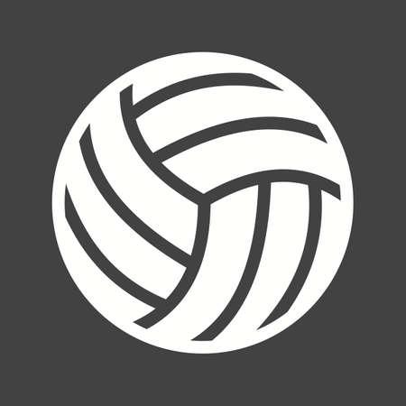 pelota de voley: Volley bola, bola, juego, partido, icono deportivo vector de imagen. Tambi�n se puede utilizar para la aptitud, la recreaci�n. Adecuado para aplicaciones web, aplicaciones m�viles y los medios impresos.