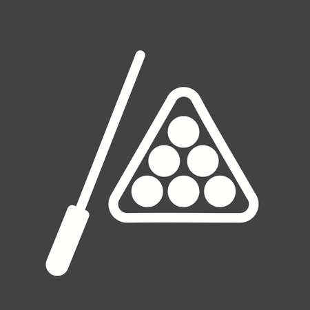 Billiard, stick, snooker, ball, sports icon vector image. Can also be used for fitness, recreation. Suitable for web apps, mobile apps and print media.