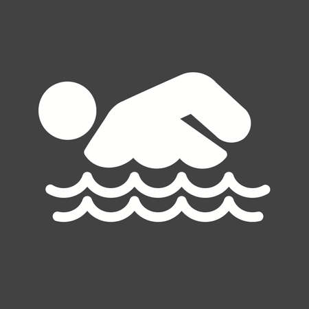 pool player: Swimming, water, pool, swimmer, sports icon vector image. Can also be used for fitness, recreation. Suitable for web apps, mobile apps and print media.