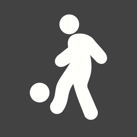 Ball, foot ball, soccer, player, sports icon vector image. Can also be used for fitness, recreation. Suitable for web apps, mobile apps and print media.