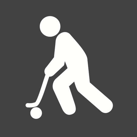 Hockey, puck, stick, ball, sports icon vector image. Can also be used for fitness, recreation. Suitable for web apps, mobile apps and print media.