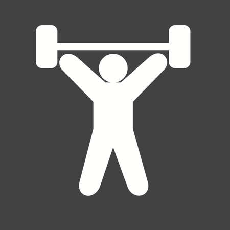 Exercise, dumbbells, heavy, weightlifter, sports icon vector image. Can also be used for fitness, recreation. Suitable for web apps, mobile apps and print media.