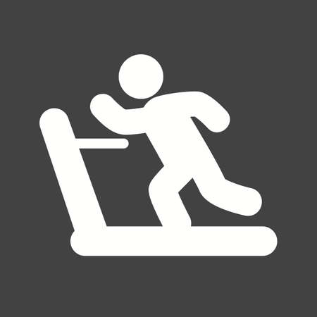 endurance run: Running, treadmill, exercise, gym, sports icon vector image. Can also be used for fitness, recreation. Suitable for web apps, mobile apps and print media. Illustration