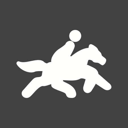 말 라이더, 조랑말, 승마, 레이스, 스포츠 아이콘 벡터 이미지. 피트니스, 레크리에이션 용으로도 사용할 수 있습니다. 웹 앱, 모바일 앱 및 인쇄 매체에