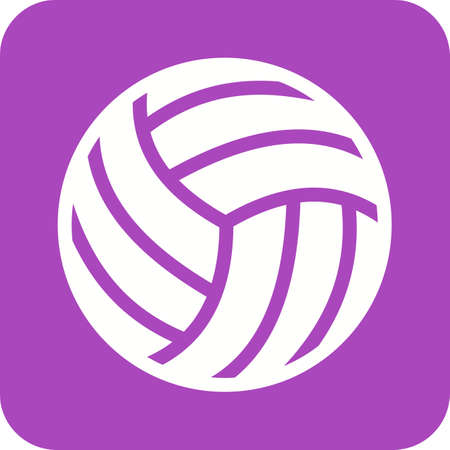 volley ball: Volley ball, ball, game, match, sports icon vector image. Can also be used for fitness, recreation. Suitable for web apps, mobile apps and print media. Illustration