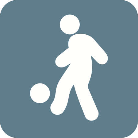 foot ball: Ball, foot ball, soccer, player, sports icon vector image. Can also be used for fitness, recreation. Suitable for web apps, mobile apps and print media.
