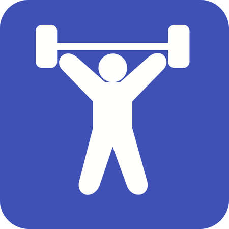 weightlifter: Exercise, dumbbells, heavy, weightlifter, sports icon vector image. Can also be used for fitness, recreation. Suitable for web apps, mobile apps and print media.