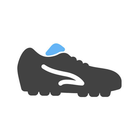 soccer cleats: Football, shoes, soccer, player, foot wear, sports icon vector image. Can also be used for fitness, recreation. Suitable for web apps, mobile apps and print media.