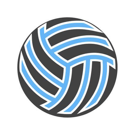 ballon volley: Volley ball, boule, jeu, match, vecteur d'image d'ic�ne de sport. Peut aussi �tre utilis� pour la forme physique, les loisirs. Convient pour les applications Web, des applications mobiles et les m�dias d'impression. Illustration