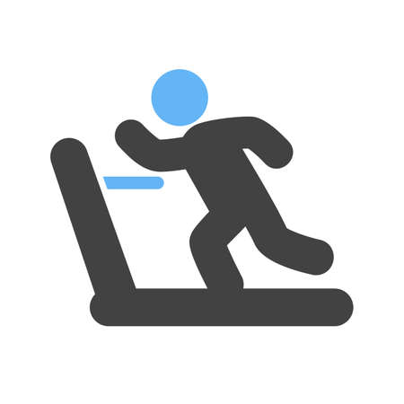 Running, treadmill, exercise, gym, sports icon vector image. Can also be used for fitness, recreation. Suitable for web apps, mobile apps and print media. Vector